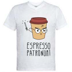 Мужская футболка  с V-образным вырезом Espresso Patronum