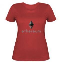 Женская футболка Ethereum
