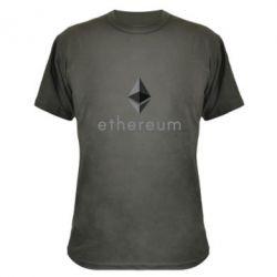 Камуфляжная футболка Ethereum
