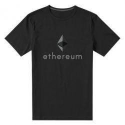 Мужская стрейчевая футболка Ethereum