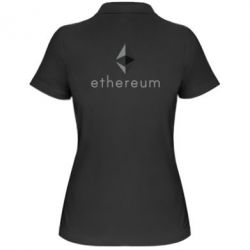 Женская футболка поло Ethereum
