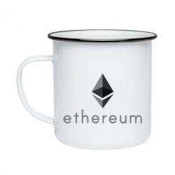 Кружка эмалированная Ethereum