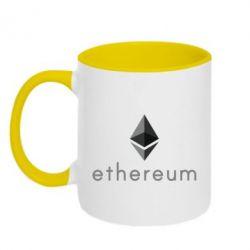 Кружка двухцветная 320ml Ethereum