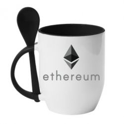 Кружка с керамической ложкой Ethereum