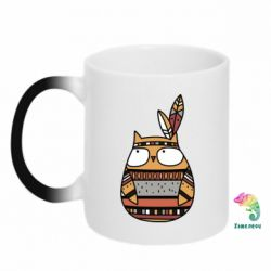 Кружка-хамелеон Ethnic owl 2
