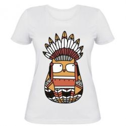Женская футболка Ethnic owl