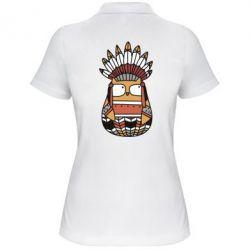 Женская футболка поло Ethnic owl