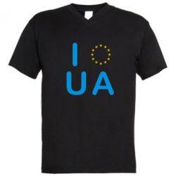 Мужская футболка  с V-образным вырезом Euro UA - FatLine