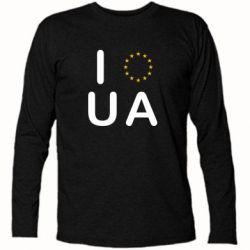 Футболка с длинным рукавом Euro UA - FatLine