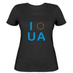 Женская футболка Euro UA - FatLine