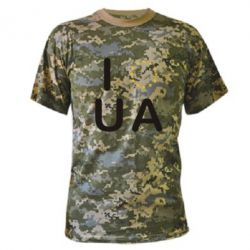 Камуфляжная футболка Euro UA - FatLine