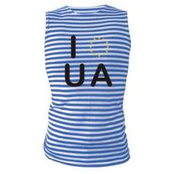 Майка-тельняшка Euro UA - FatLine