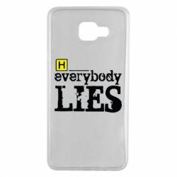 Чехол для Samsung A7 2016 Everybody LIES House