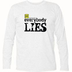 Футболка з довгим рукавом Everybody LIES House - FatLine
