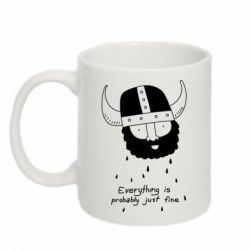 Кружка 320ml Everything is probably just fine - FatLine