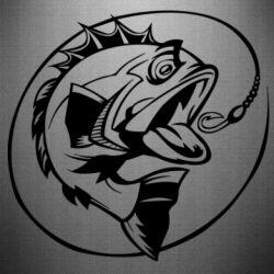 Наклейка Evil fish