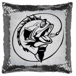 Подушка-хамелеон Evil fish
