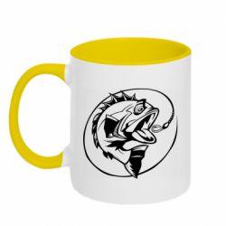 Кружка двухцветная 320ml Evil fish