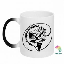 Кружка-хамелеон Evil fish