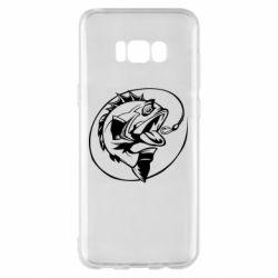Чехол для Samsung S8+ Evil fish