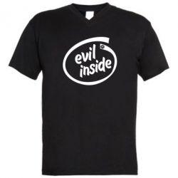 Мужская футболка  с V-образным вырезом Evil Inside - FatLine