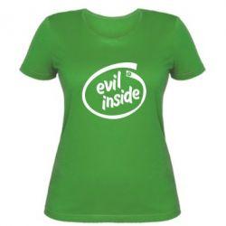 Женская футболка Evil Inside - FatLine