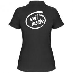 Женская футболка поло Evil Inside - FatLine