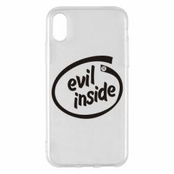 Чехол для iPhone X/Xs Evil Inside