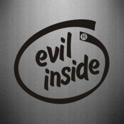 Наклейка Evil Inside - FatLine
