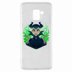 Чехол для Samsung A8+ 2018 Evil Maleficent