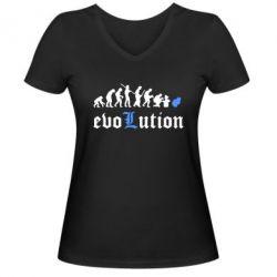 Женская футболка с V-образным вырезом Evolution Death Note