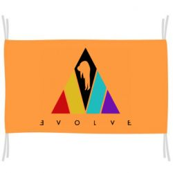 Прапор Evolve logo