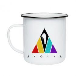 Кружка емальована Evolve logo