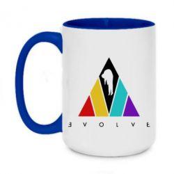 Кружка двоколірна 420ml Evolve logo