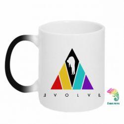 Кружка-хамелеон Evolve logo
