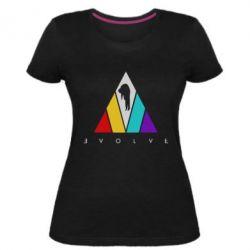 Жіноча стрейчева футболка Evolve logo