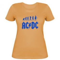 Женская футболка Эволюция AC\DC