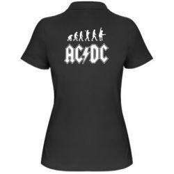 Женская футболка поло Эволюция AC\DC - FatLine