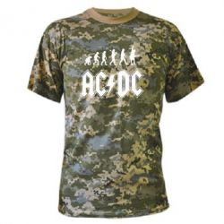 Камуфляжная футболка Эволюция AC\DC