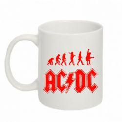 Кружка 320ml Эволюция AC\DC - FatLine