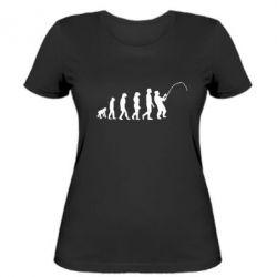 Женская футболка Эволюция рыбака