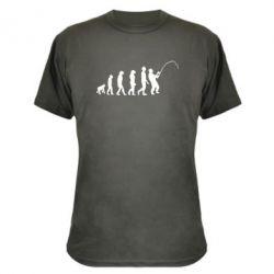 Камуфляжная футболка Эволюция рыбака