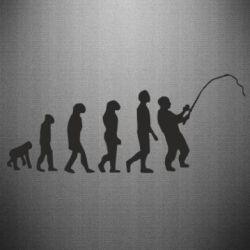 Наклейка Эволюция рыбака
