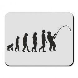 Коврик для мыши Эволюция рыбака