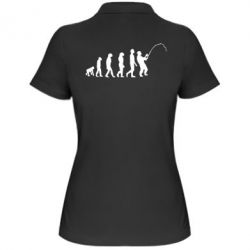 Женская футболка поло Эволюция рыбака