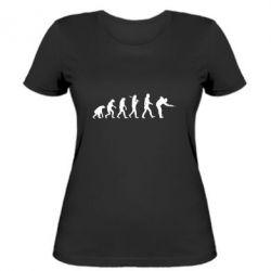 Женская футболка Эволюцию бильярда