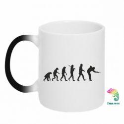 Кружка-хамелеон Эволюцию бильярда