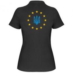 Женская футболка поло ЕвроУкраїна - FatLine