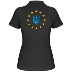 Жіноча футболка поло ЕвроУкраїна