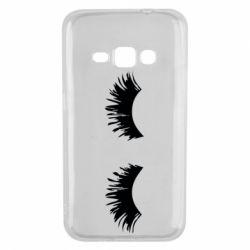 Чохол для Samsung J1 2016 Eyelashes